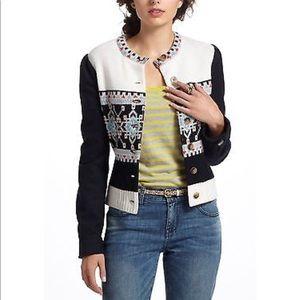 Anthropologie Wool Blend Jacket - Size 0